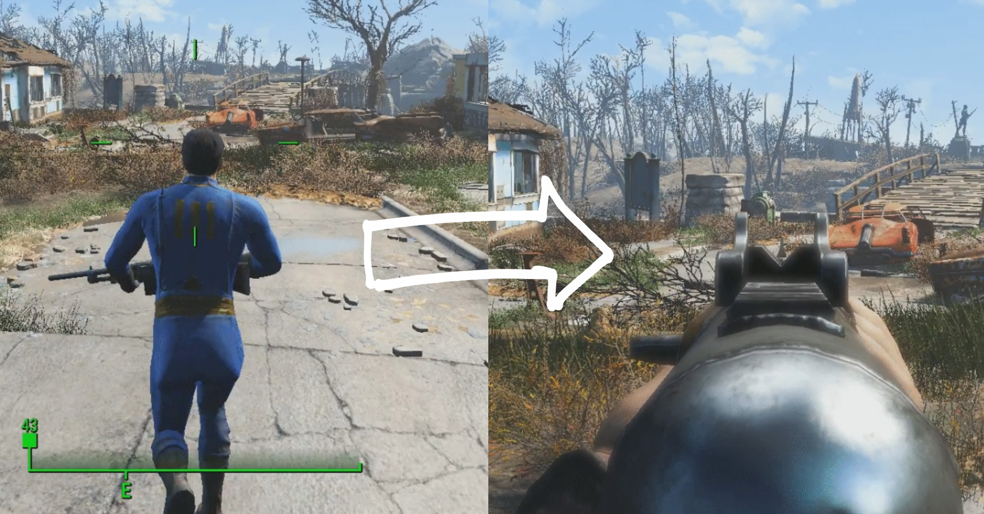Fallout 4 mod snaps you from third-person to first-person