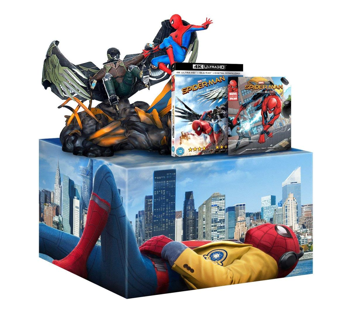 Save £110 on this Spider-Man: Homecoming statue and Blu-Ray combo at Amazon