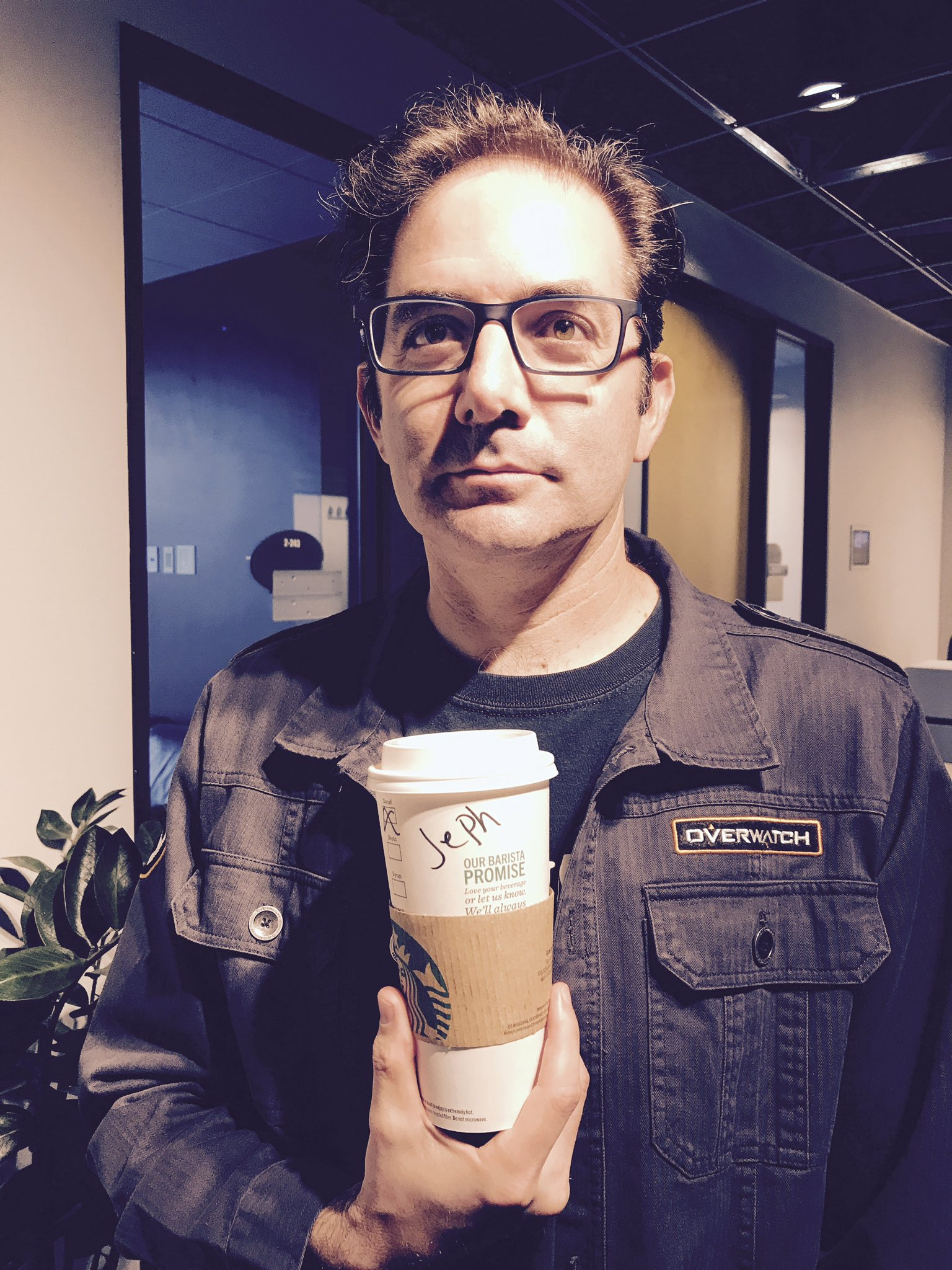 Jeff Kaplan goes to Starbucks