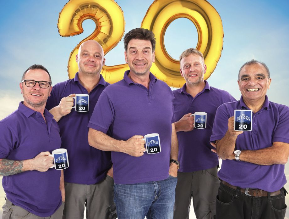 DIY SOS team including Nick Knowles for 20th anniversary