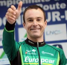 Christophe Kern (Europcar) took home the French time trial title.