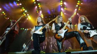 Steve Harris, Dave Murray, Adrian Smith and Janick Gers of Iron Maiden