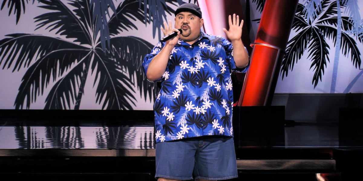 Gabriel Iglesias in his comedy special, One Show Fits All, on Netflix.