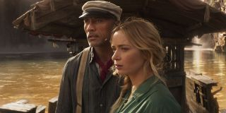 Emily Blunt and Dwayne Johnson in Jungle Cruise
