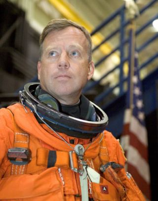 STS-121 Shuttle Commander Looks Towards Launch