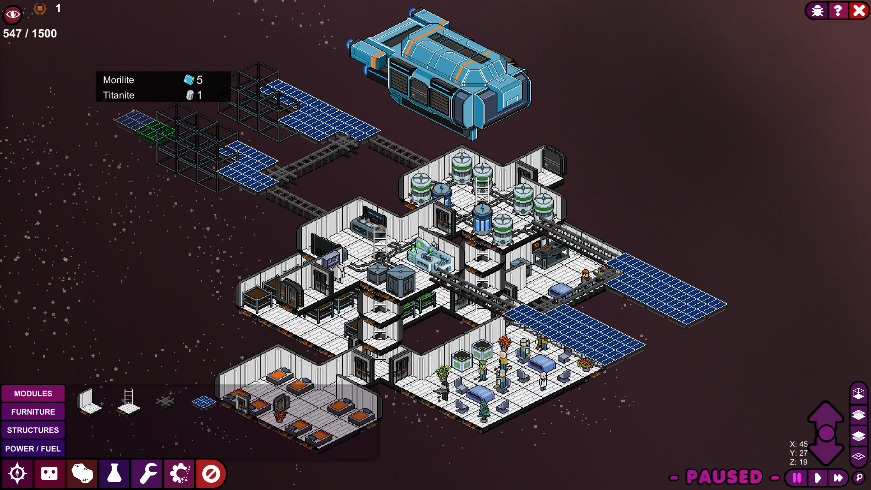 Meeple Station wants to be Rimworld on a space station