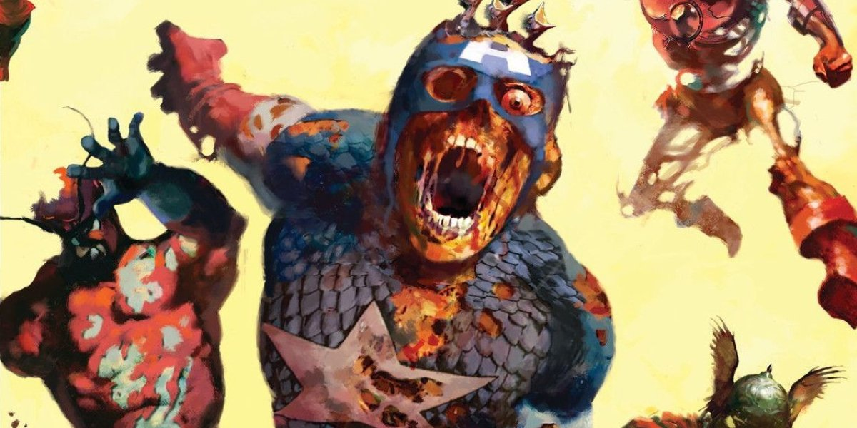 Undead Captain America in the Marvel Zombies storylin