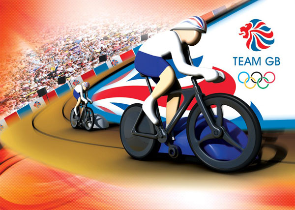 Scalextric Team GB cycling set