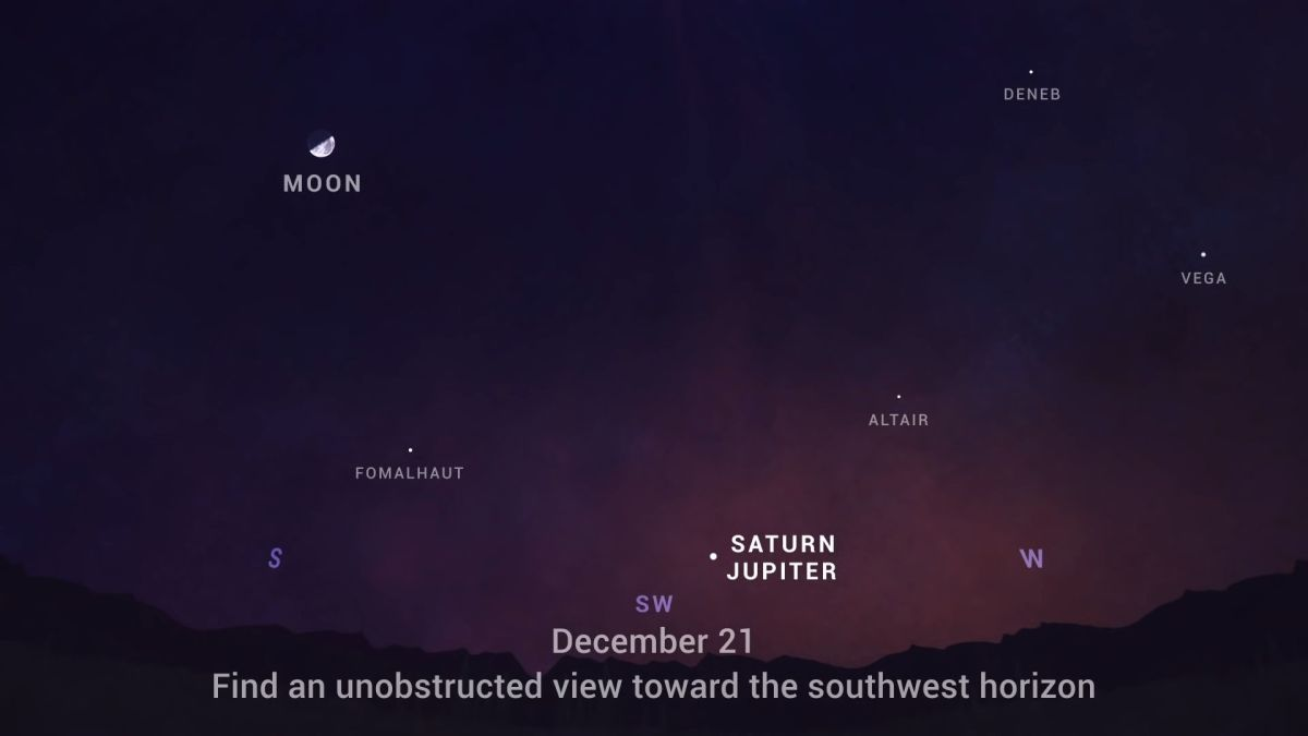 'Great conjunction' of Jupiter and Saturn will form a 'Christmas Star' on the winter solstice