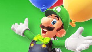 Luigi beckons you into his Balloon World.