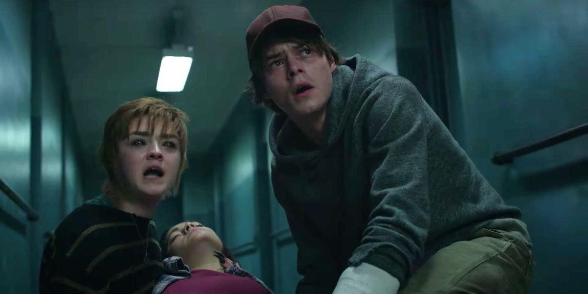 Maisie Williams, Blu Hunt and Charlie Heaton in The New Mutants
