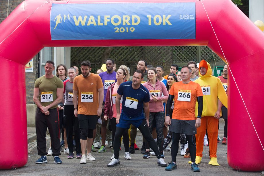 The Walford 10K is about to start in EastEnders