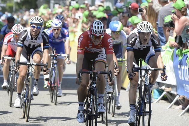Nikias Arndt wins stage three of the 2014 Criterium du Dauphine