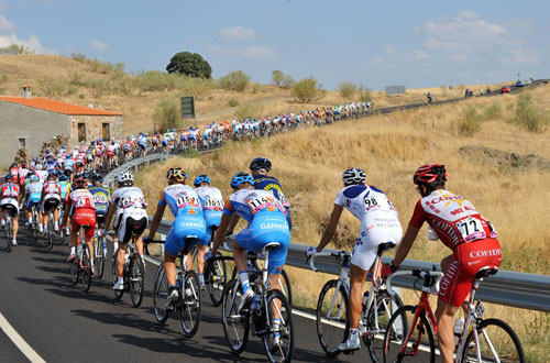 Peloton, Vuelta a Espana 2009, stage 16