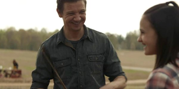Avengers Endgame opening scene Clint Barton smiles at his daughter Lila Marvel MCU