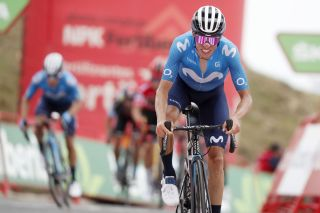 Vuelta Espana 2021 - 76th Edition - 3rd stage Santo Domingo de Silos - Picon Blanco 202.8 km - 16/08/2021 - Enric Mas (ESP - Movistar Team) - photo Luis Angel Gomez/BettiniPhoto©2021