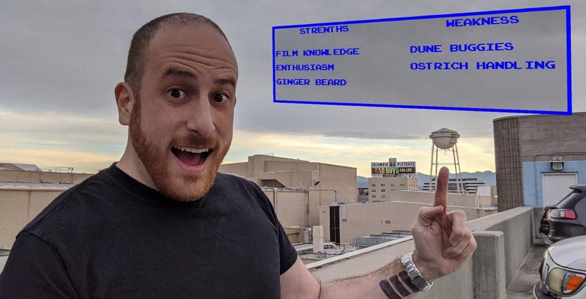 Eric Eisenberg with his Jumanji stats
