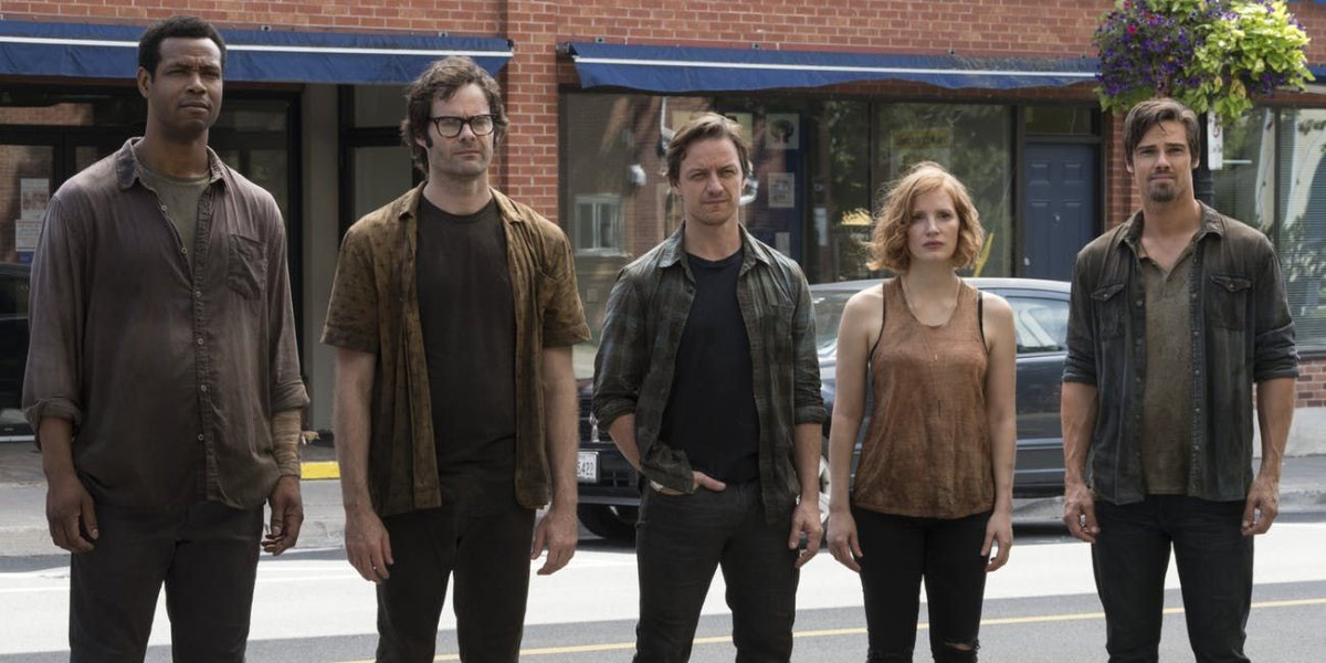 IT Chapter Two The Losers Club standing on the street, post battle