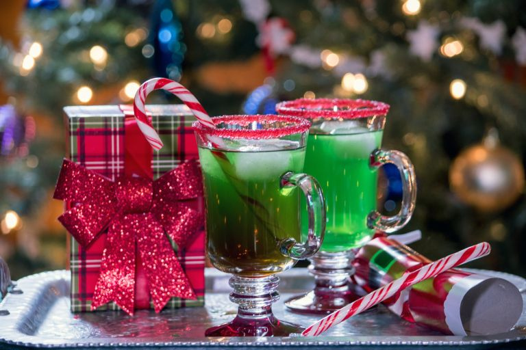 Grinch cocktails