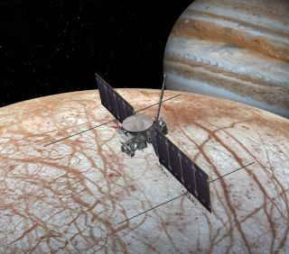 Europa Clipper spacecraft art