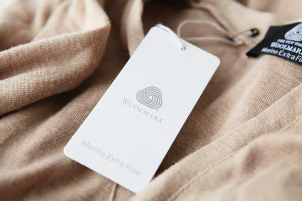 Woolmark label attached to a jumper