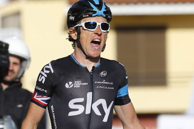 Photo: Geraint Thomas wins Stage 2 of the 2015 Volta ao Algarve .