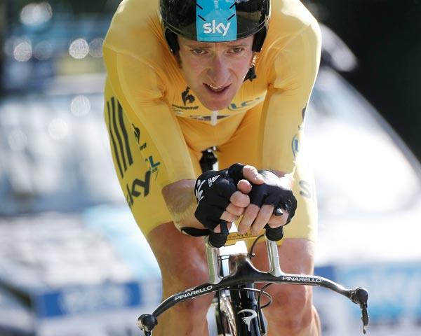 Bradley Wiggins, Tour de France 2012, stage nine