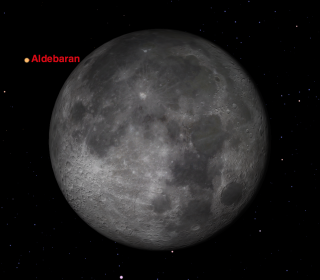 On Thursday morning, November 26, the Moon will pass directly in front of the first magnitude star Aldebaran for many observers in North America