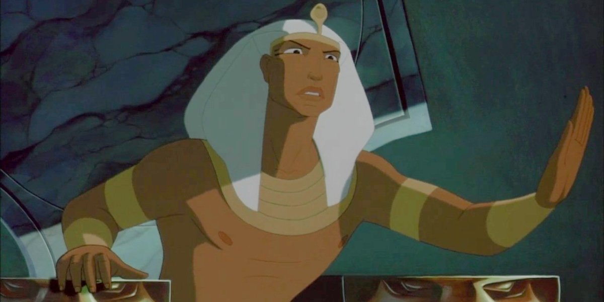 Rameses in The Prince of Egypt.