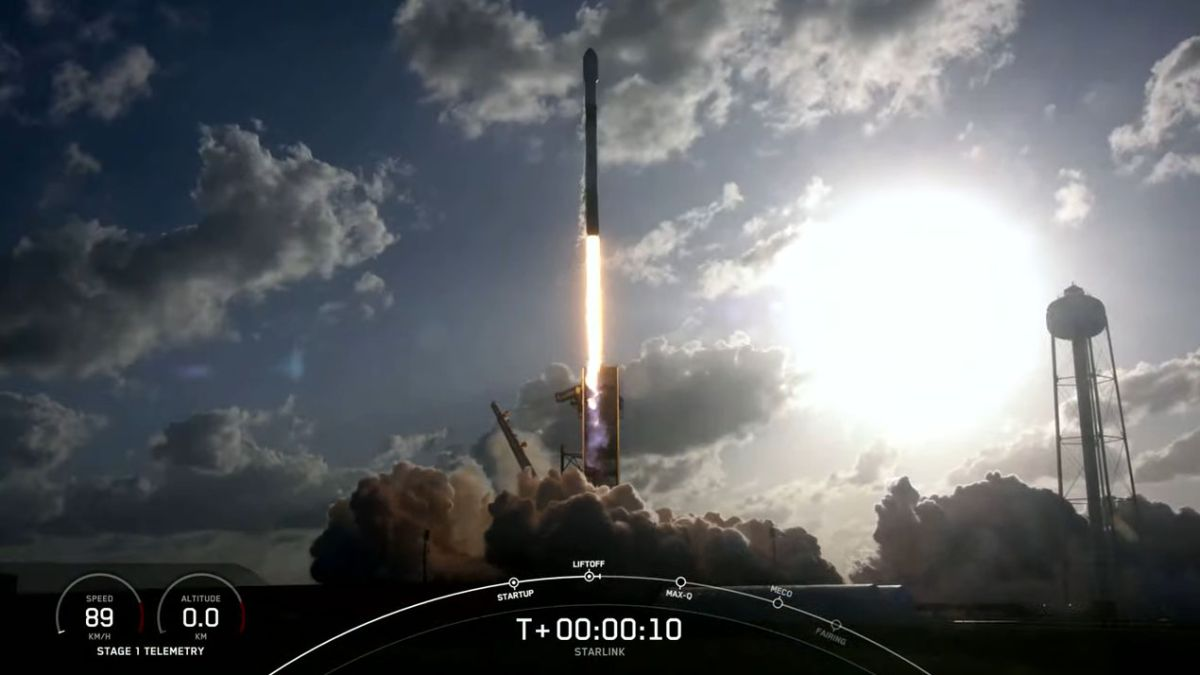 SpaceX rocket launches Starlink fleet and 2 small satellites, sticks landing at sea