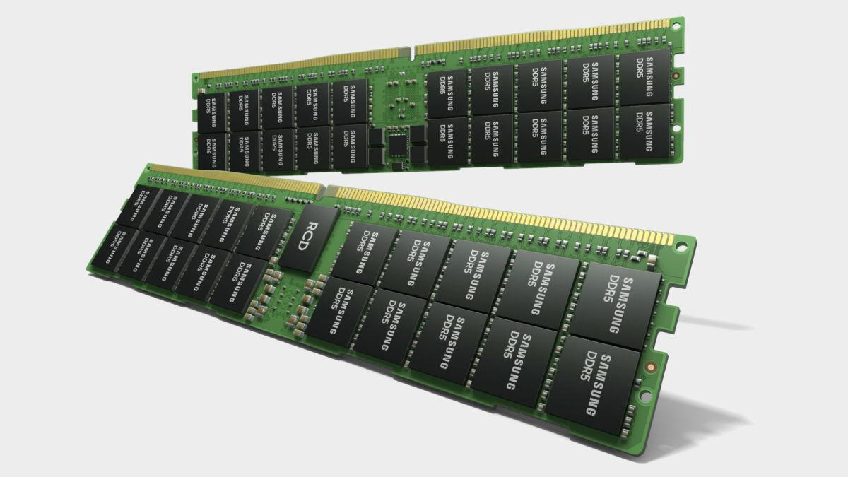 Samsung's DDR5 RAM stacks up to 512GB into a tiny 1mm die