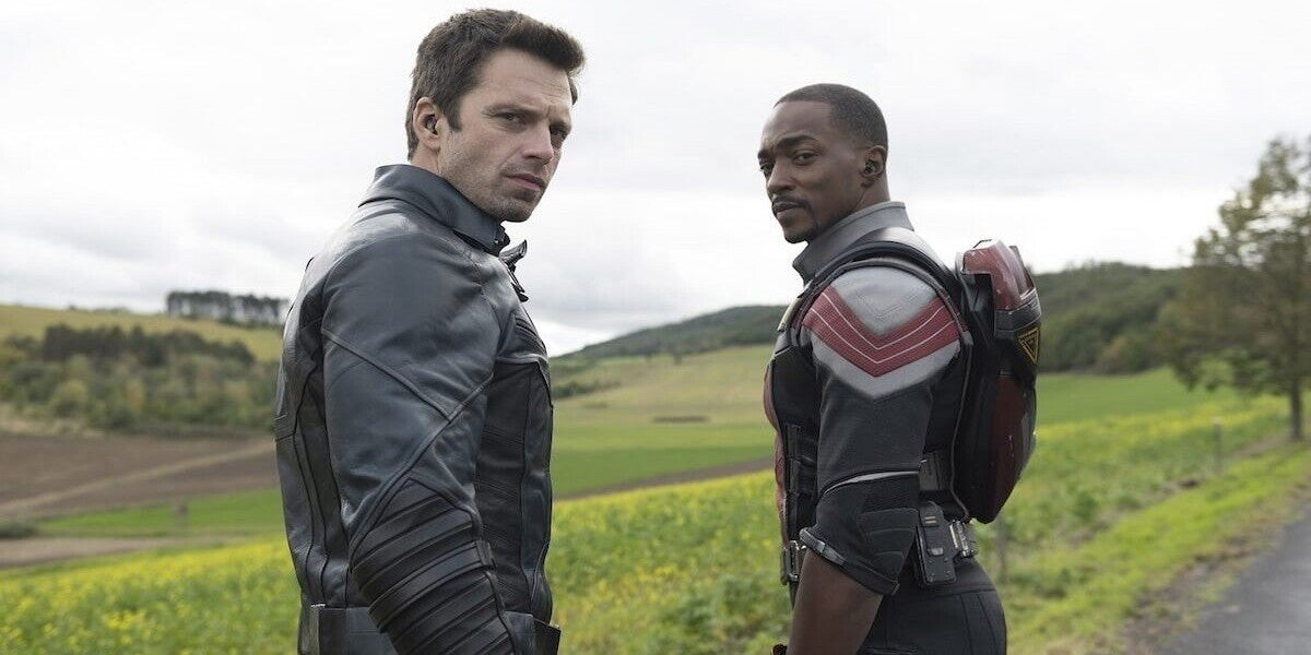 Bucky Barnes and Sam Wilson in The Falcon and the Winter Soldier