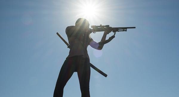 michonne walking dead rifle