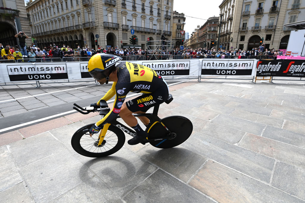 TURIN ITALY MAY 08 Paul Martens of Germany and Team Jumbo Visma during the 104th Giro dItalia 2021 Stage 1 a 86km Individual Time Trial stage from Torino to Torino ITT girodiitalia Giro on May 08 2021 in Turin Italy Photo by Stuart FranklinGetty Images