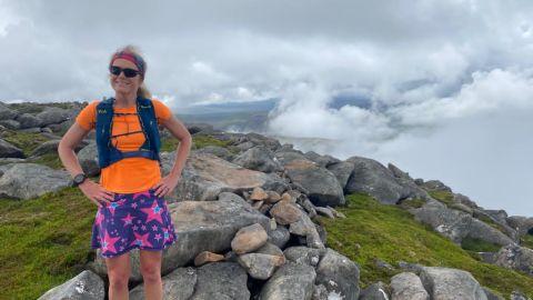 Fiona Russell wearing a Montane Gecko VP 5+ running vest pack