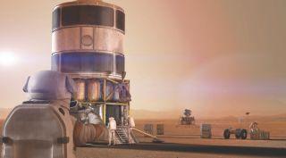 Boeing Mars habitat art