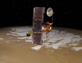 mars odyssey south pole