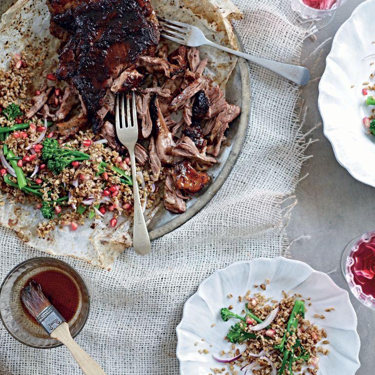 Slow roasted lamb salad photo