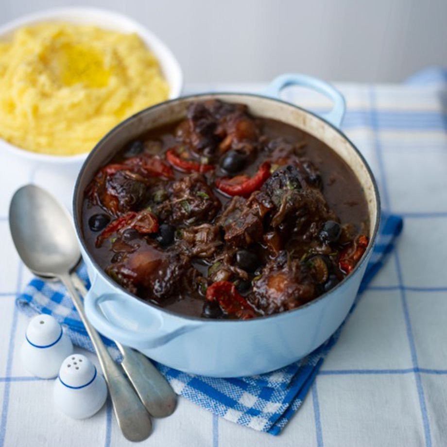 Oxtail Casserole with Capers, Olives and Tomatoes Recipe