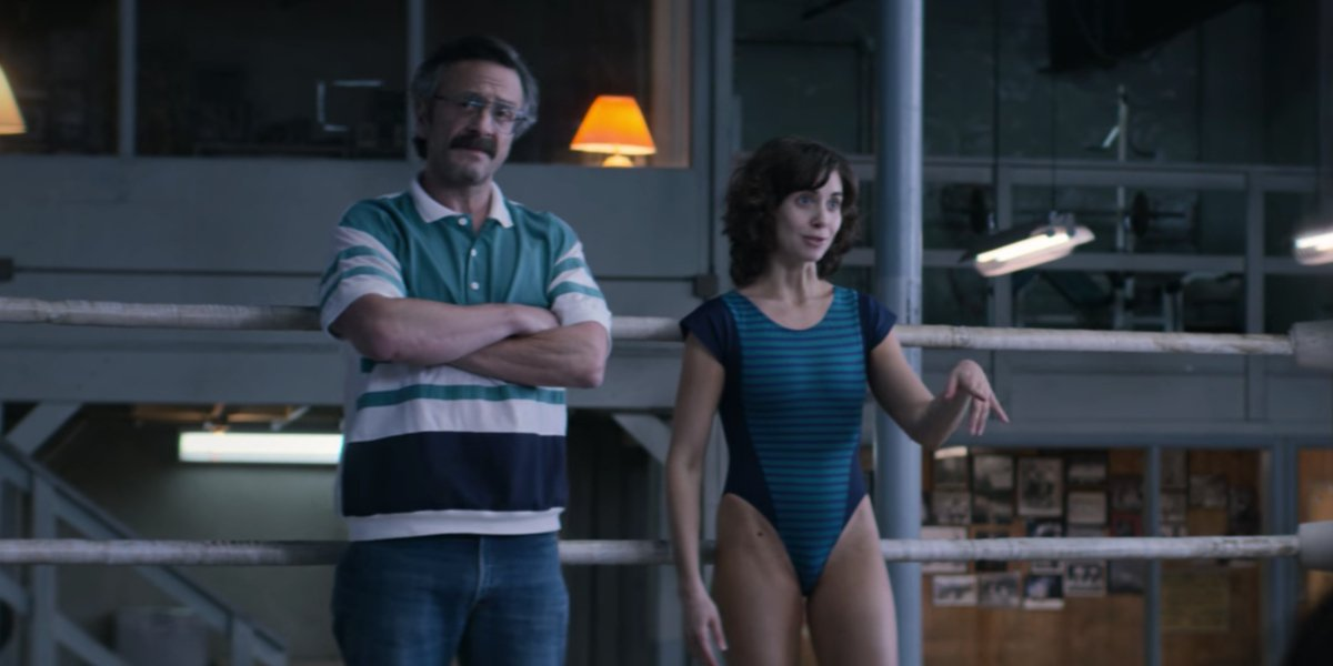 Marc Maron and Alison Brie in GLOW