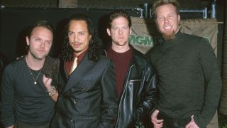 Lars Ulrich, Kirk Hammett, Jason Newsted and James Hetfield in 1999