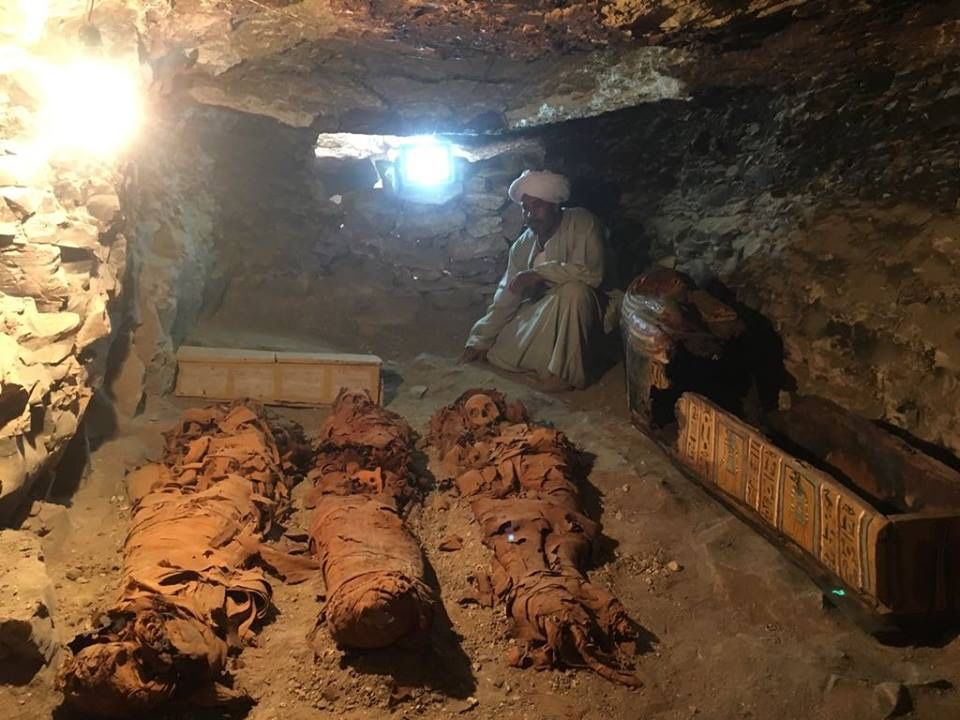 Ancient Goldsmith's Tomb Filled with Mummies Discovered in Luxor