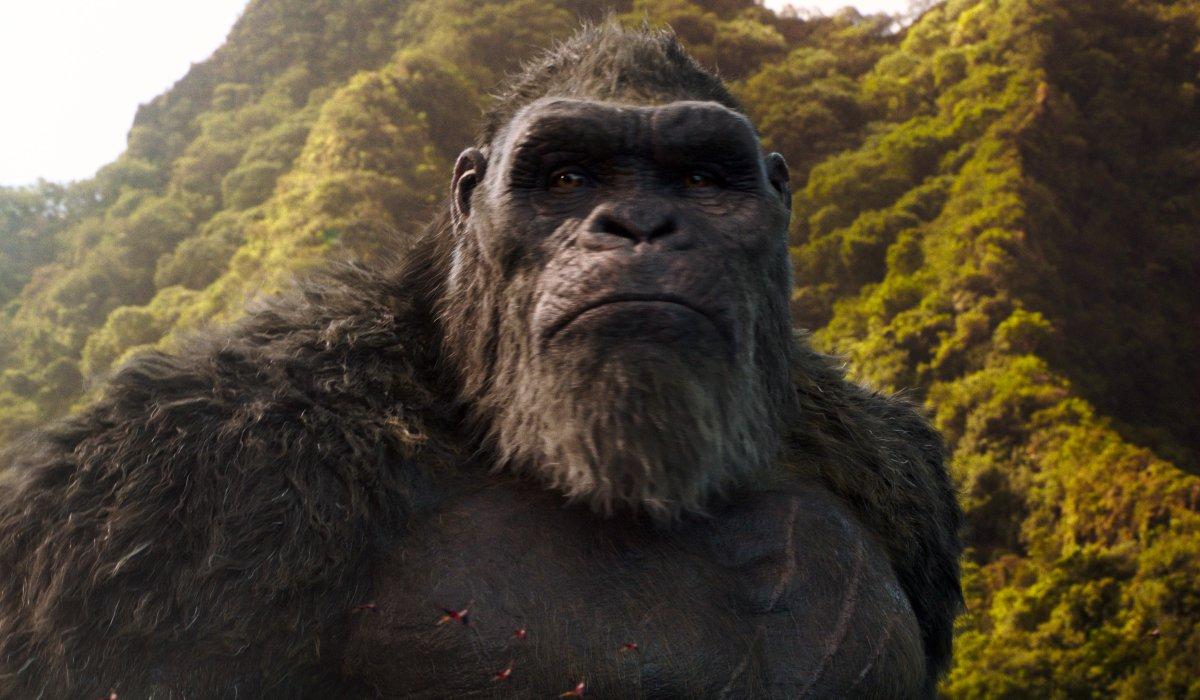 Kong standing on Skull Island in Godzilla vs. Kong.