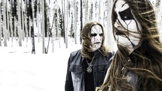 Inquisition pose outside in a frozen forest in 2016