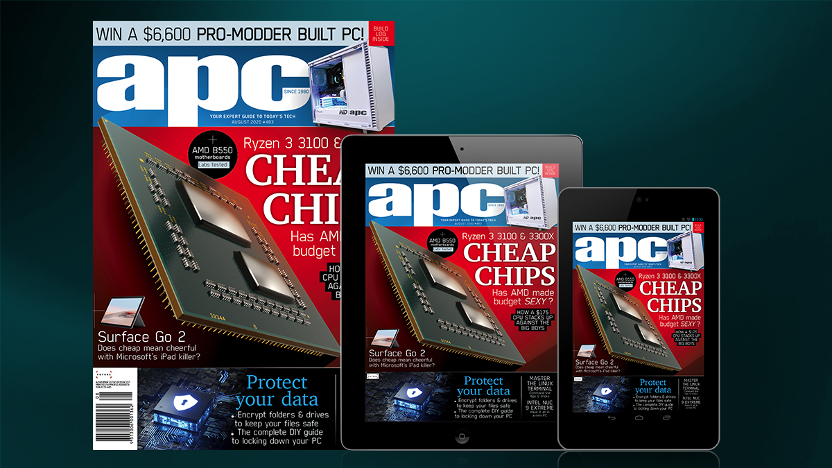 Grab the August issue of APC from any good newsagent or HERE - and read our feature story covering how Stuart created the WD APC EDITOR BOX PC! Print and digital editions for Apple and Android also available!