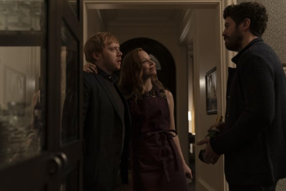 Rupert Grint, Lauren Ambrose, and Toby Kebbell in Servant