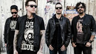 Papa Roach with Jacoby Shaddix, second left