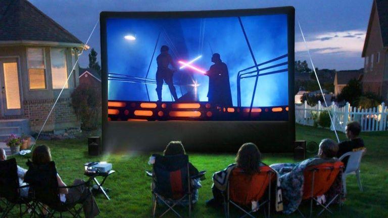 best outdoor projector in garden