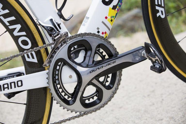 fabian cancellara trek madone spartacus tour de france bike shimano dura-ace crankset 2