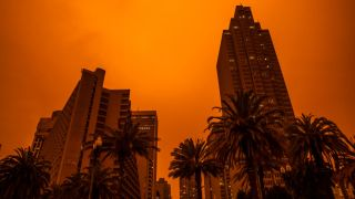 San Francisco's September sky during the 2020 California wildfires